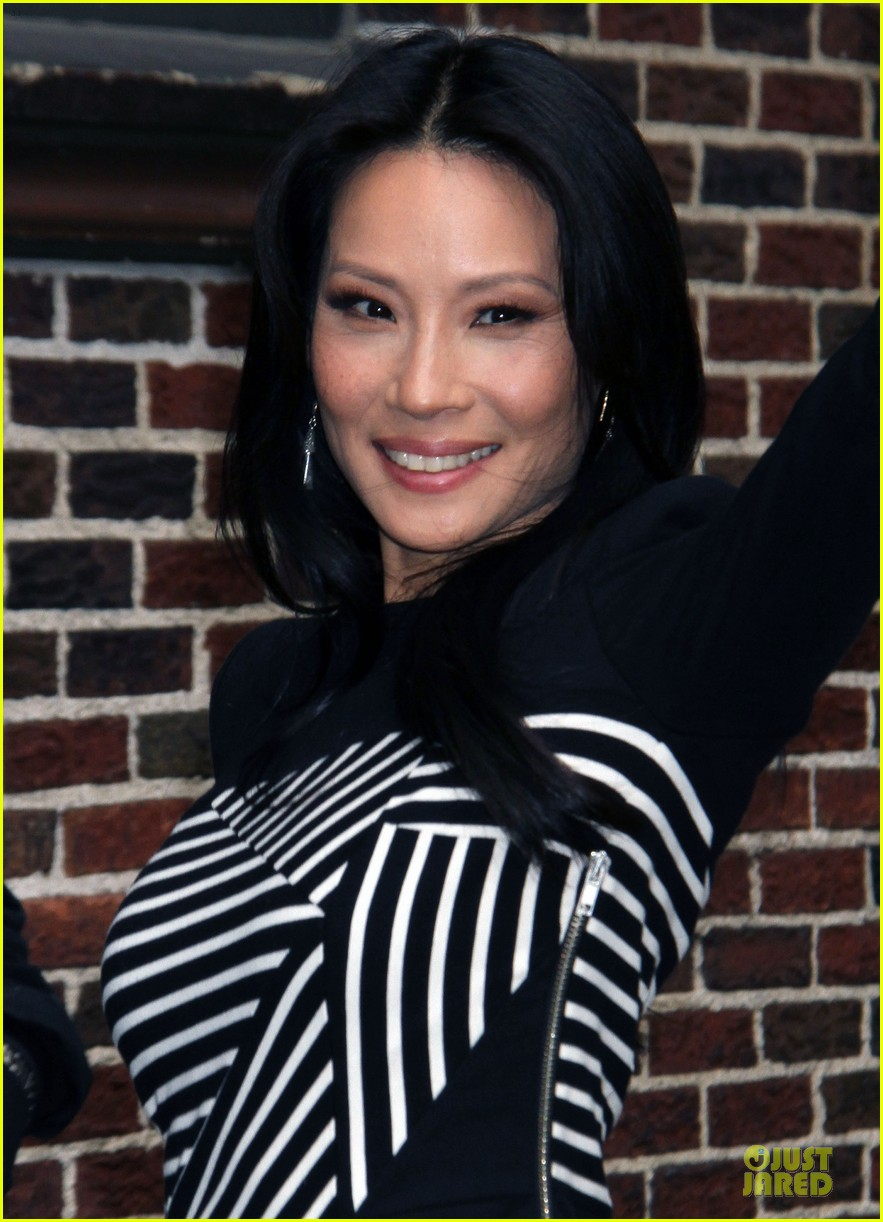lucy liu mark ruffalo david letterman guests 152969361