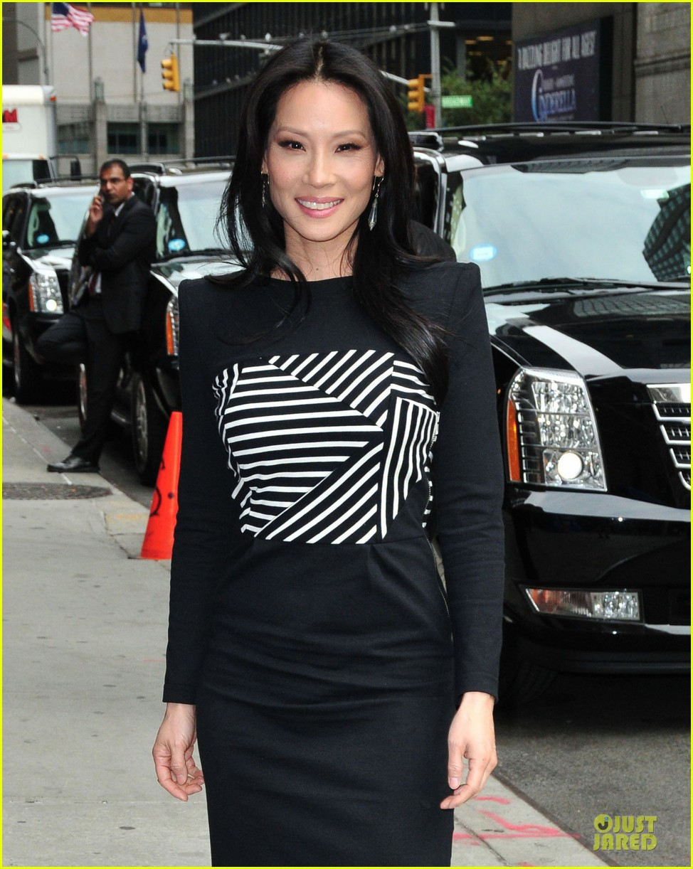lucy liu mark ruffalo david letterman guests 182969364
