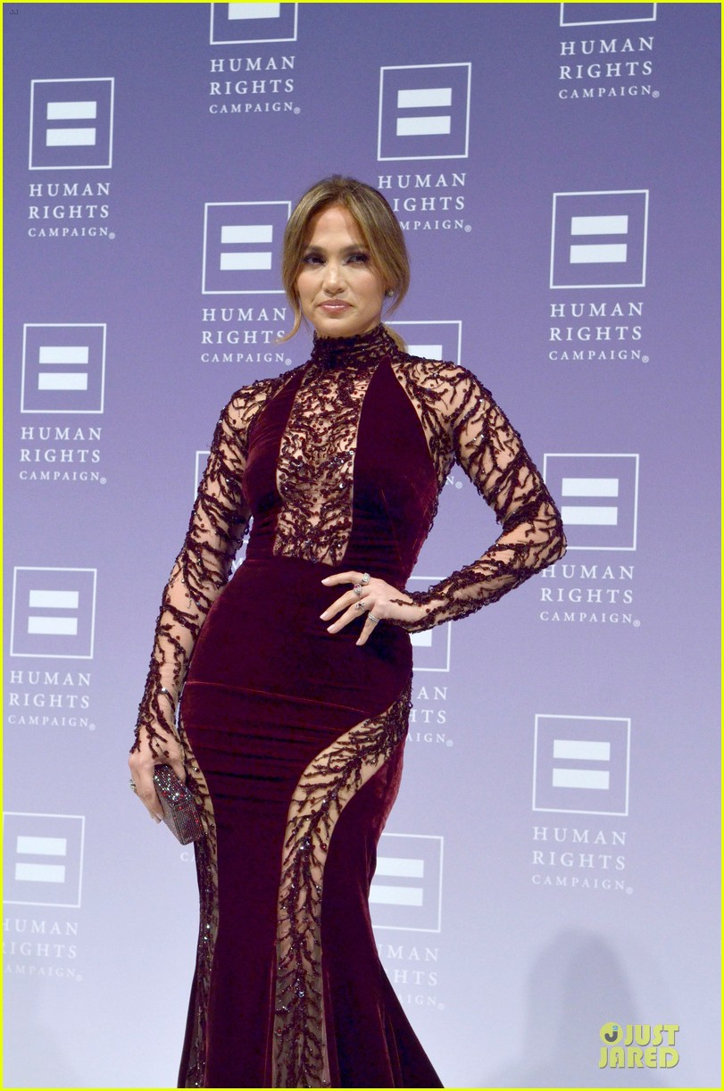 jennifer lopez ally for equality award at hrc national dinner 12