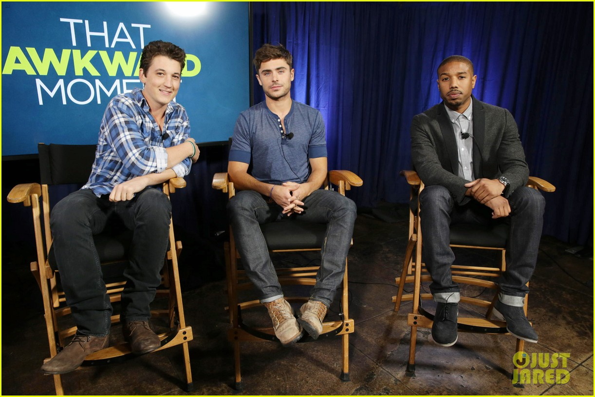 michael b jordan miles teller that awkward moment qa with zac efron 012973141
