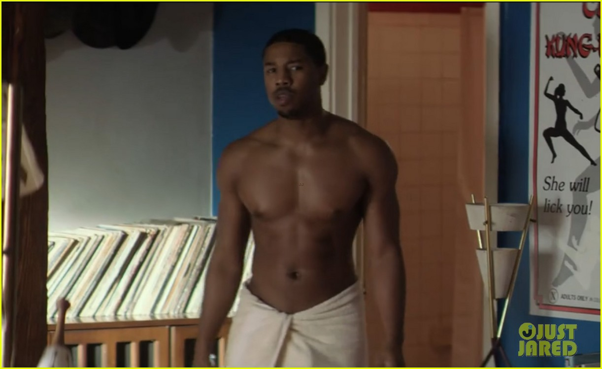 michael b jordan shirtless in that awkward moment clip 01
