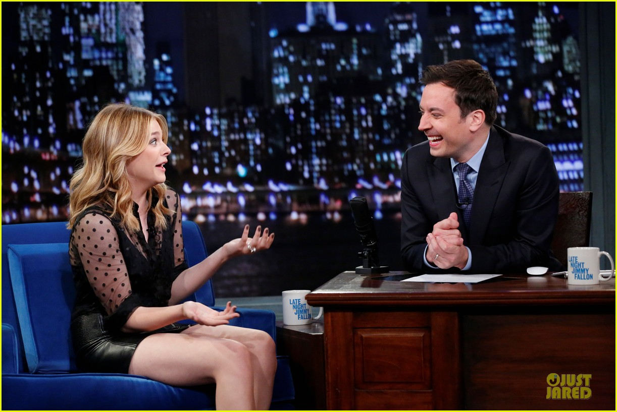 chloe moretz fierce carrie promo on fallon 122969329