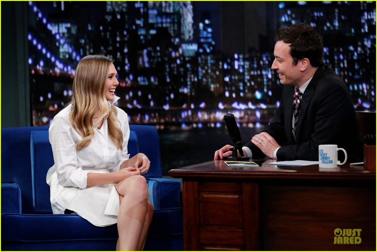 elizabeth olsen kill your darlings on fallon 16