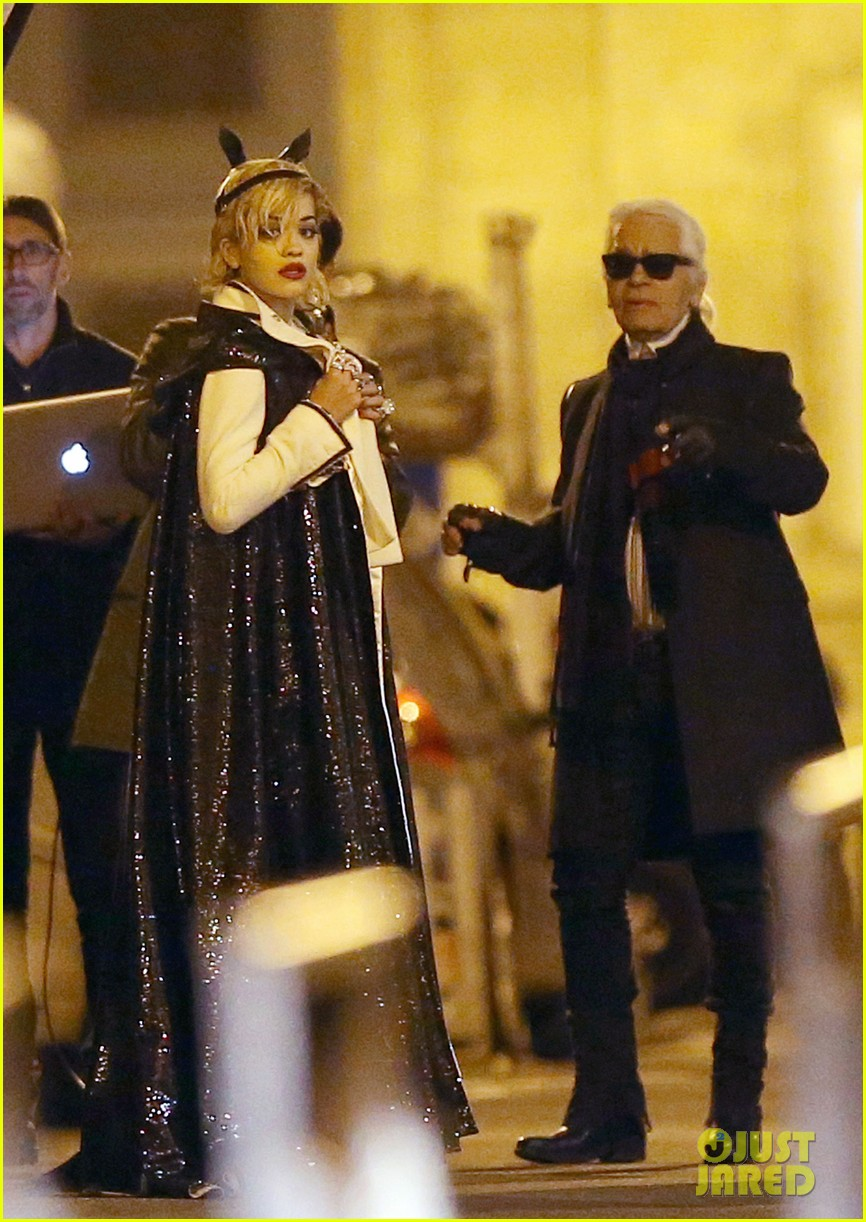 rita ora midnight photo shoot with karl lagerfeld 062971435