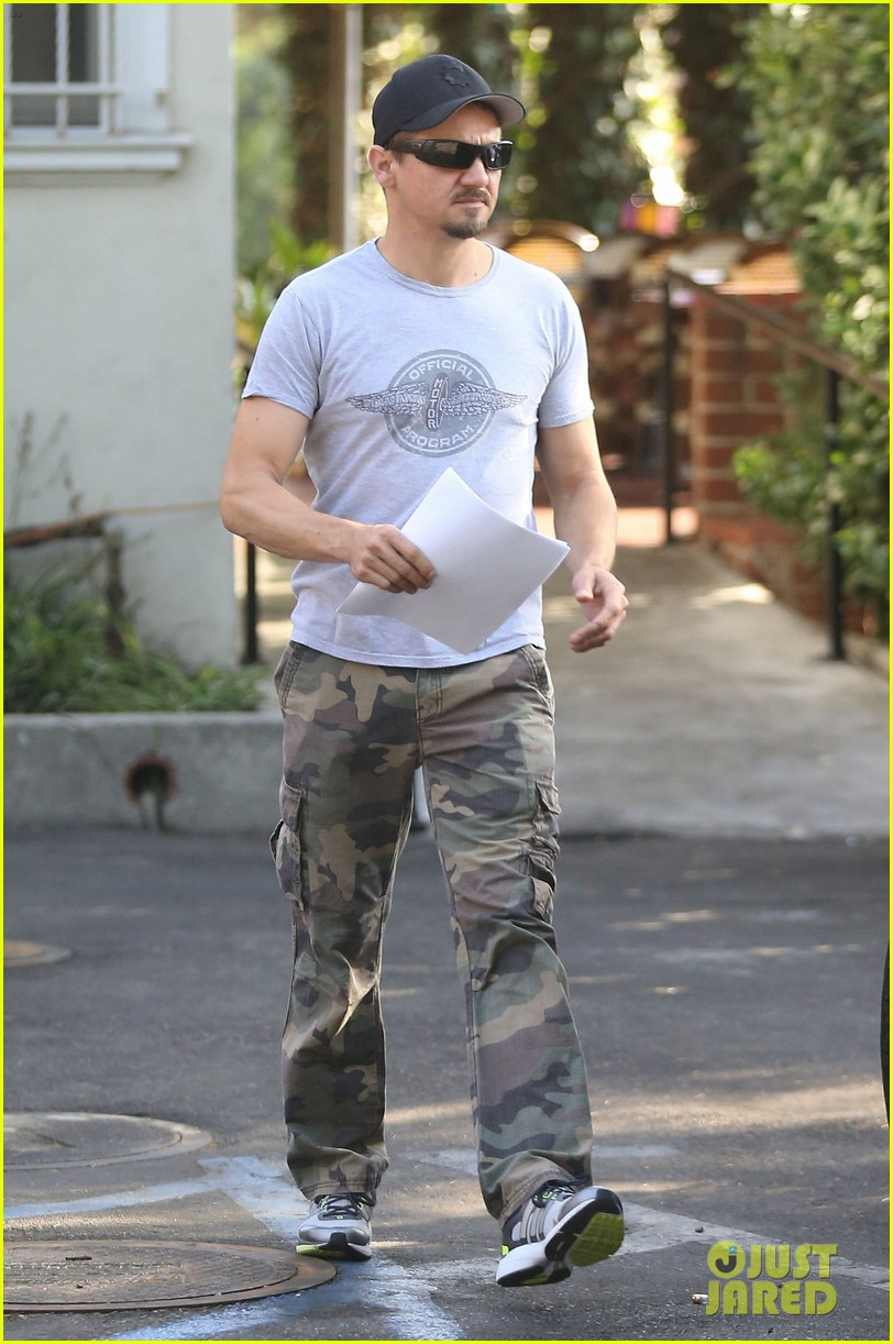 jeremy renner goes camouflage in west hollywood 13