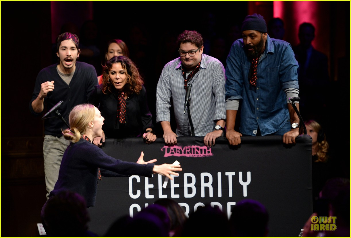 amanda seyfried justin long celebrity charades benefit gala 252982107