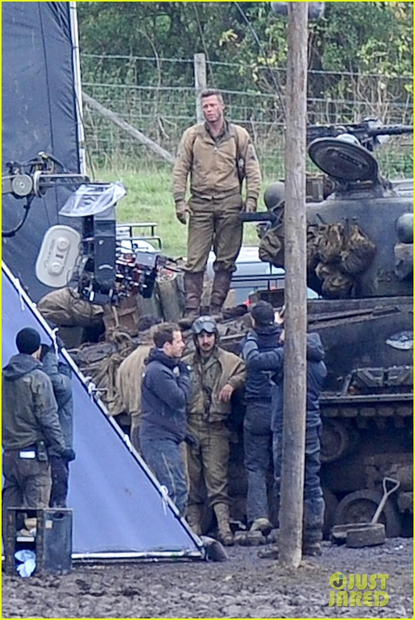 brad pitt shia labeouf continue fury filming 10