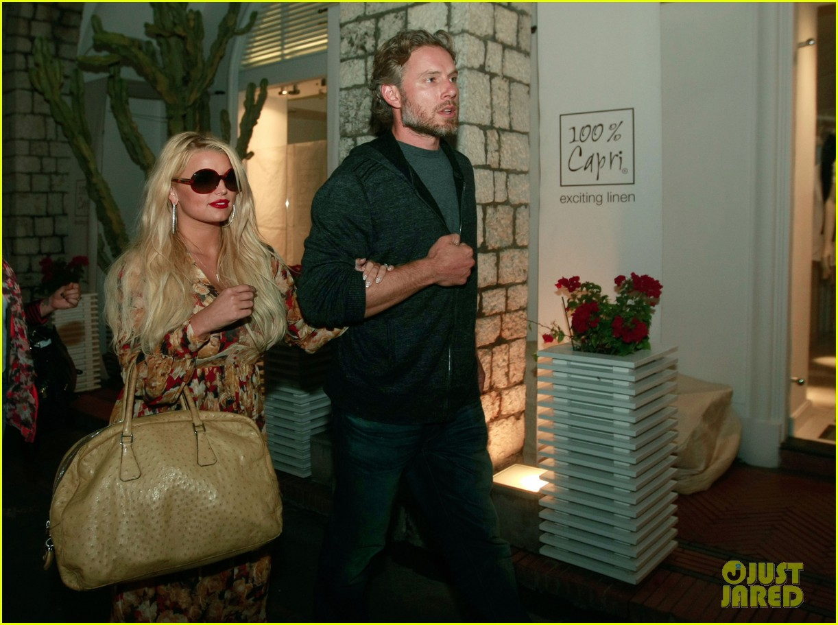 jessica simpson eric johnson in capri prepping wedding 072973234