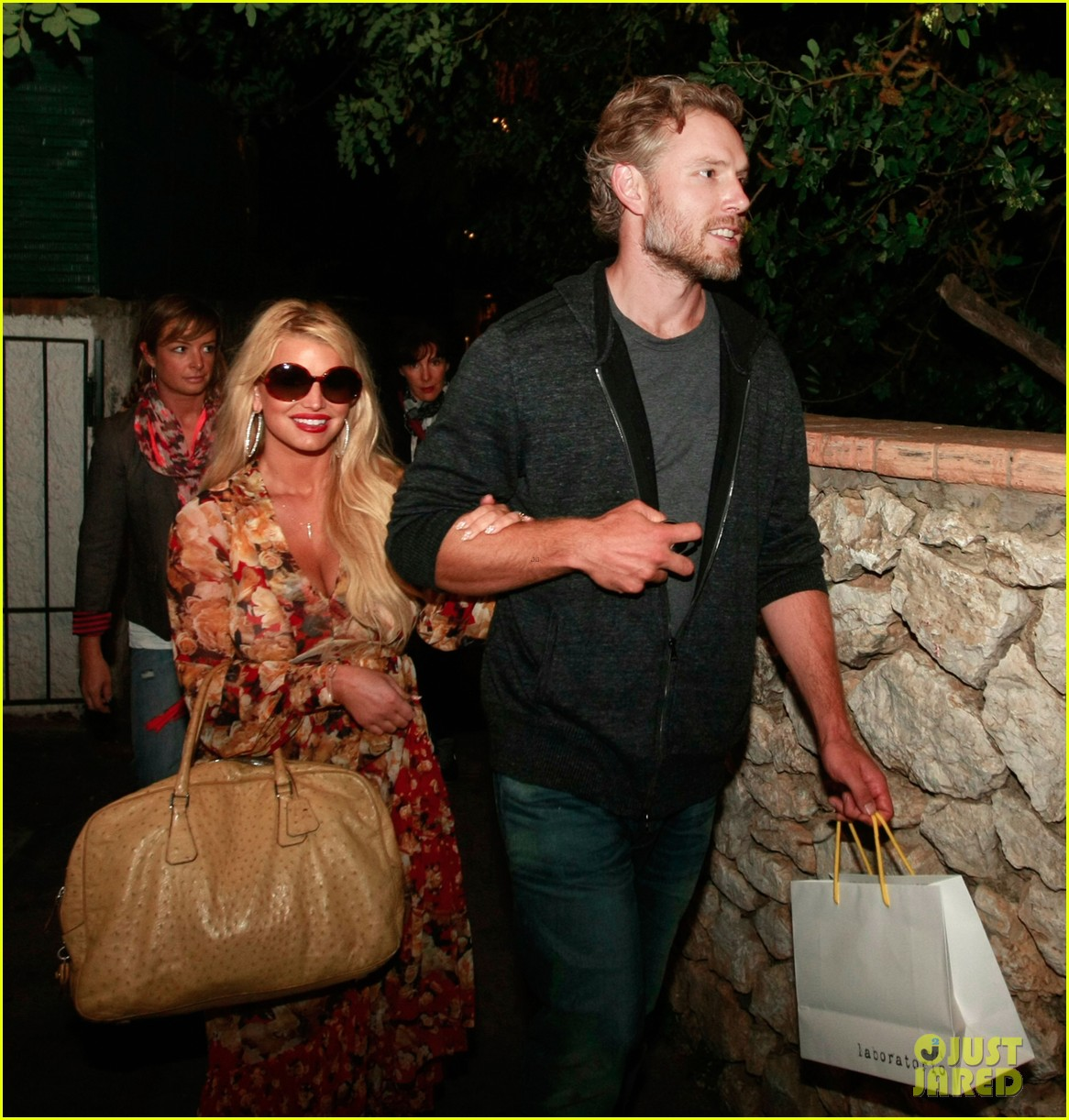 jessica simpson eric johnson in capri prepping wedding 172973244