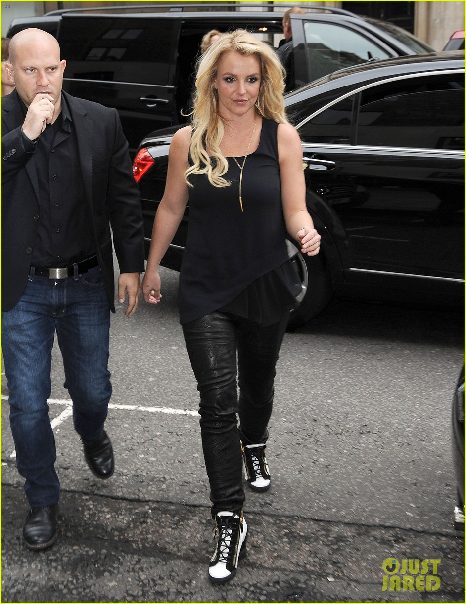 britney spears makes capital fm radio appearance in london 11