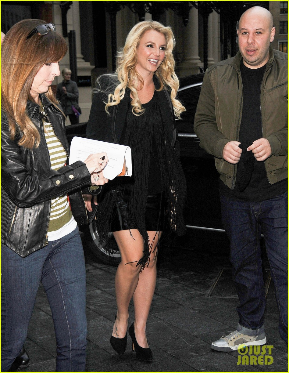 britney spears makes capital fm radio appearance in london 15
