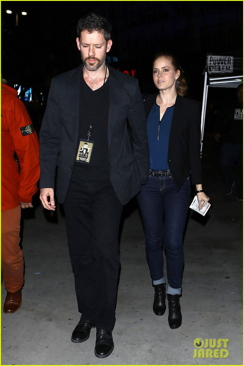 amy adams supports pal justin timberlake at 2020 concert 01