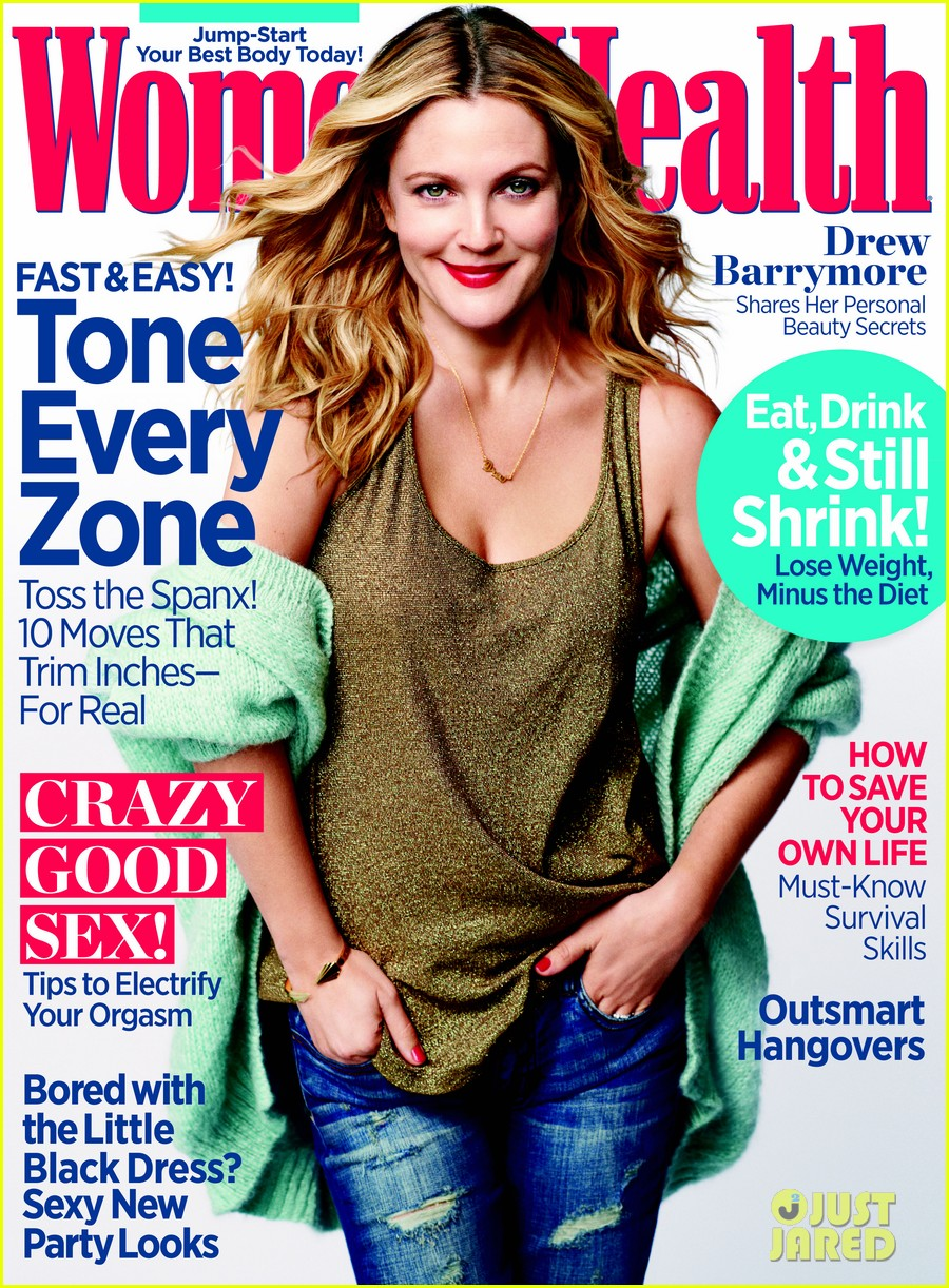 drew barrymore covers womens health december 2013 02
