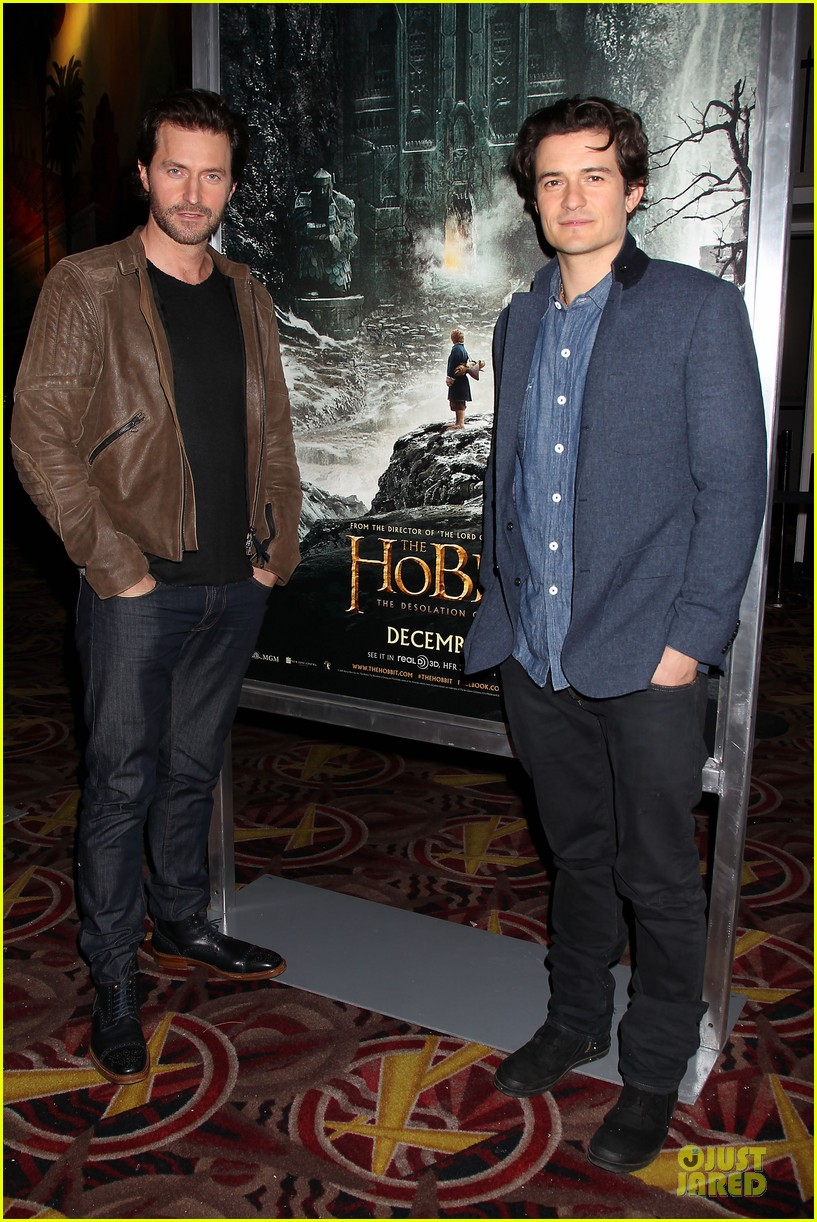 orlando bloom hobbit the desolation of smaug fan screening 01
