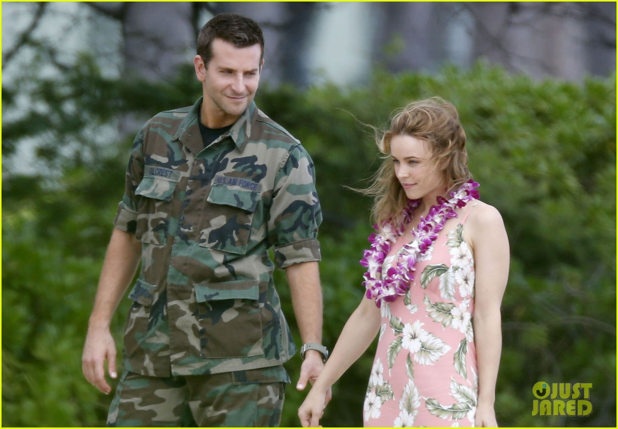 bradley cooper films with rachel mcadams suki waterhouse flies out 132987728