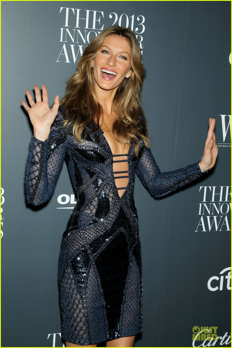 gisele bundchen plunging neckline at wsj magazine awards 122987249