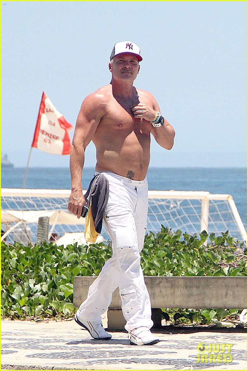 gma sam champion continues shirtless honeymoon 06