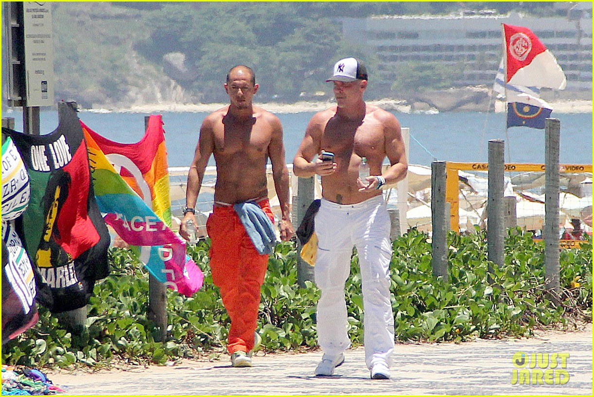 gma sam champion continues shirtless honeymoon 07