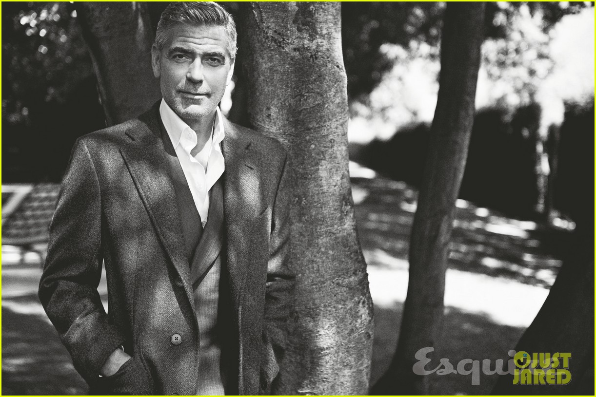 george clooney talks fame twitter brad pitt with esquire 07