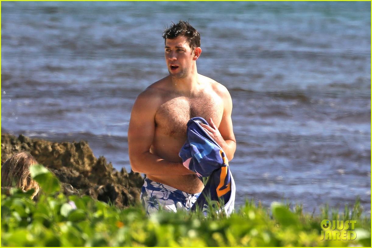 bradley cooper shirtless with john krasinski pregnant bikini clad emily blunt 222996562