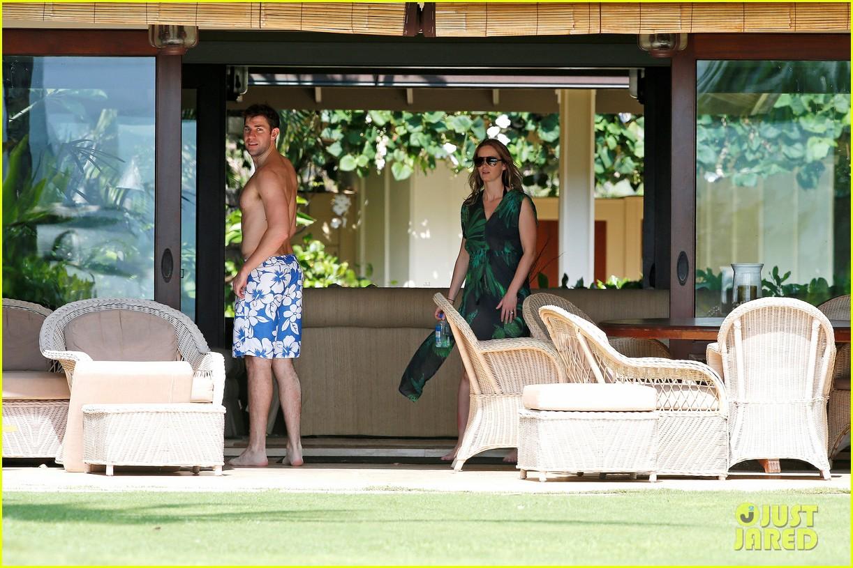 bradley cooper shirtless with john krasinski pregnant bikini clad emily blunt 39