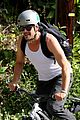 josh duhamel bares his biceps in muscle tank on bike ride 02