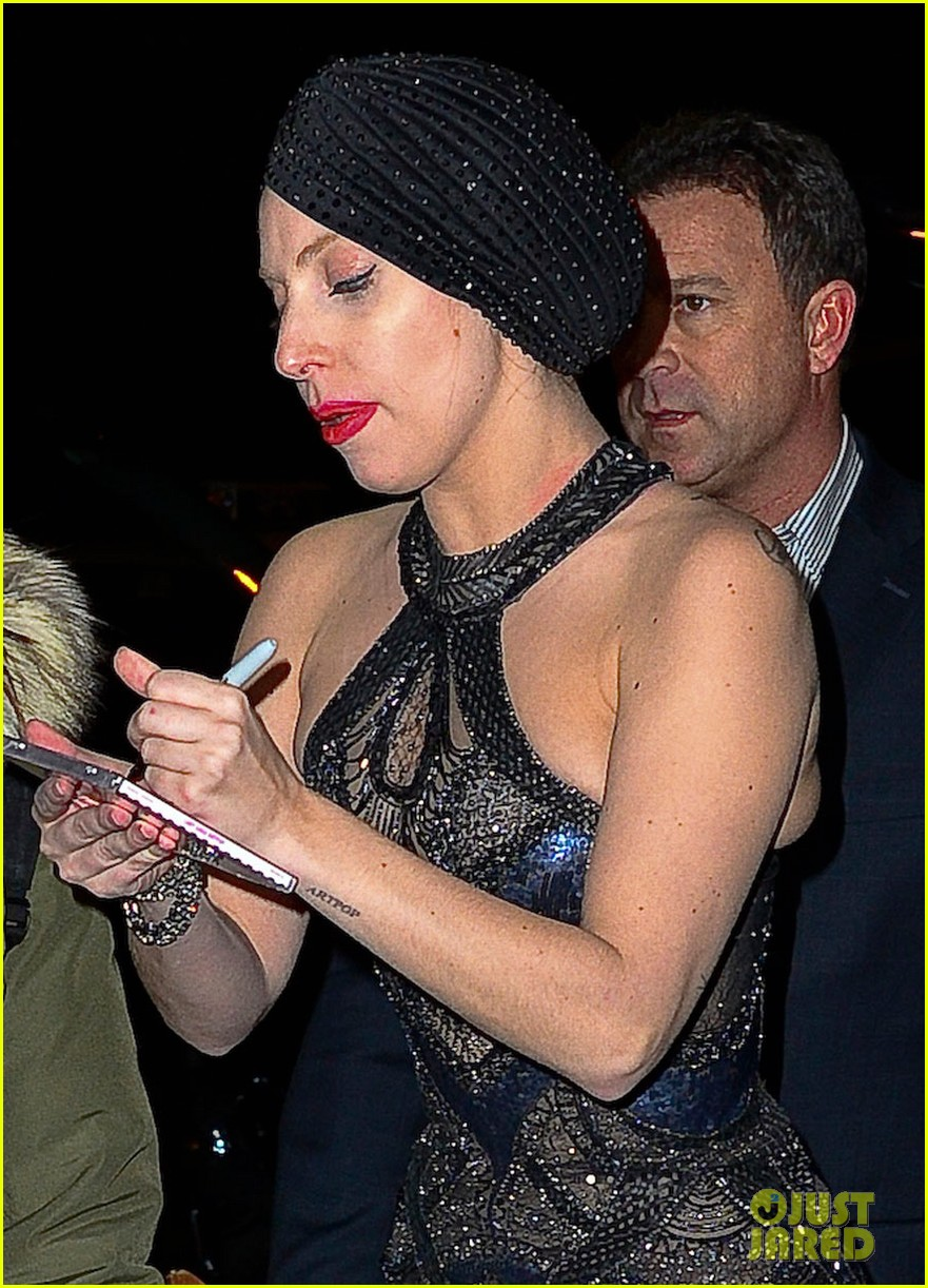 lady gaga greets fans after saturday night live rehearsals 02