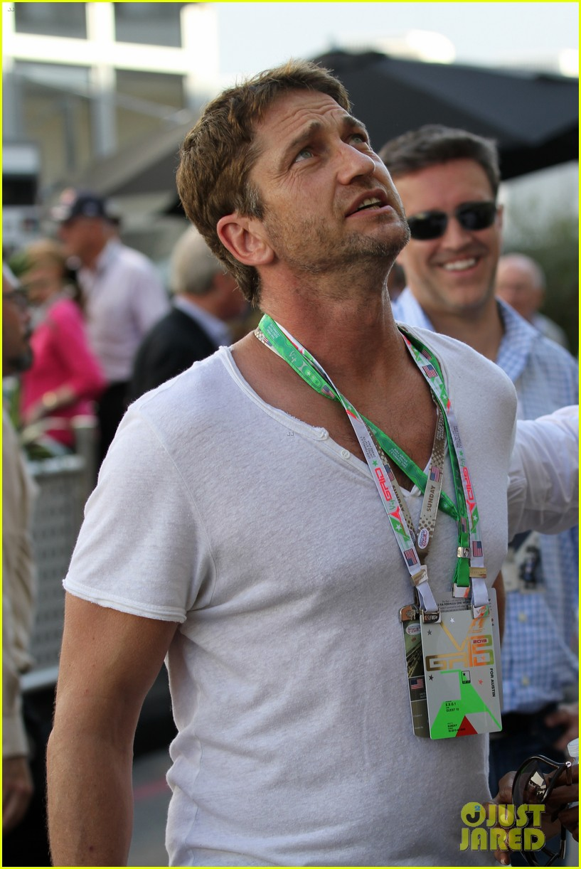 gerard butler fan friendly f1 championships 052994908