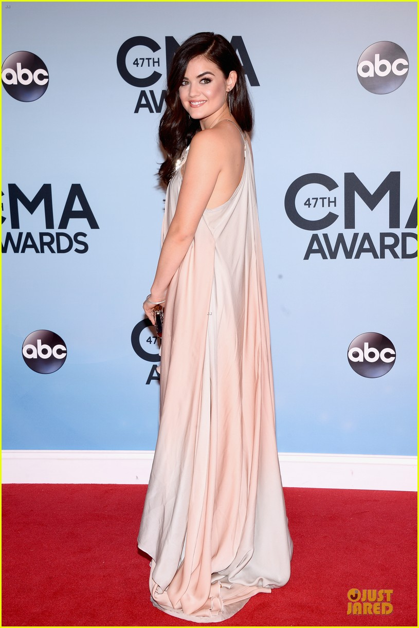 lucy hale colbie caillat cma awards 2013 red carpet 07