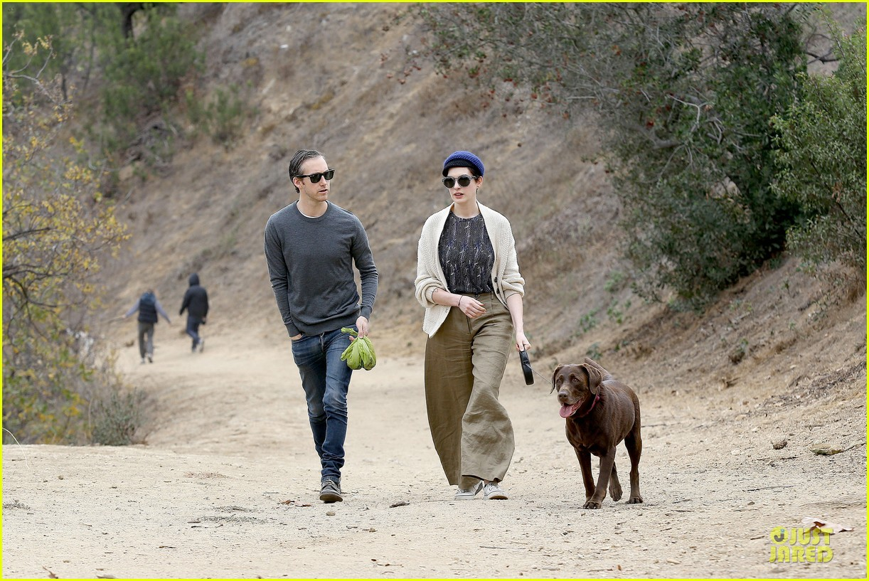 anne hathaway adam shulman hold hands for intimate walk 14