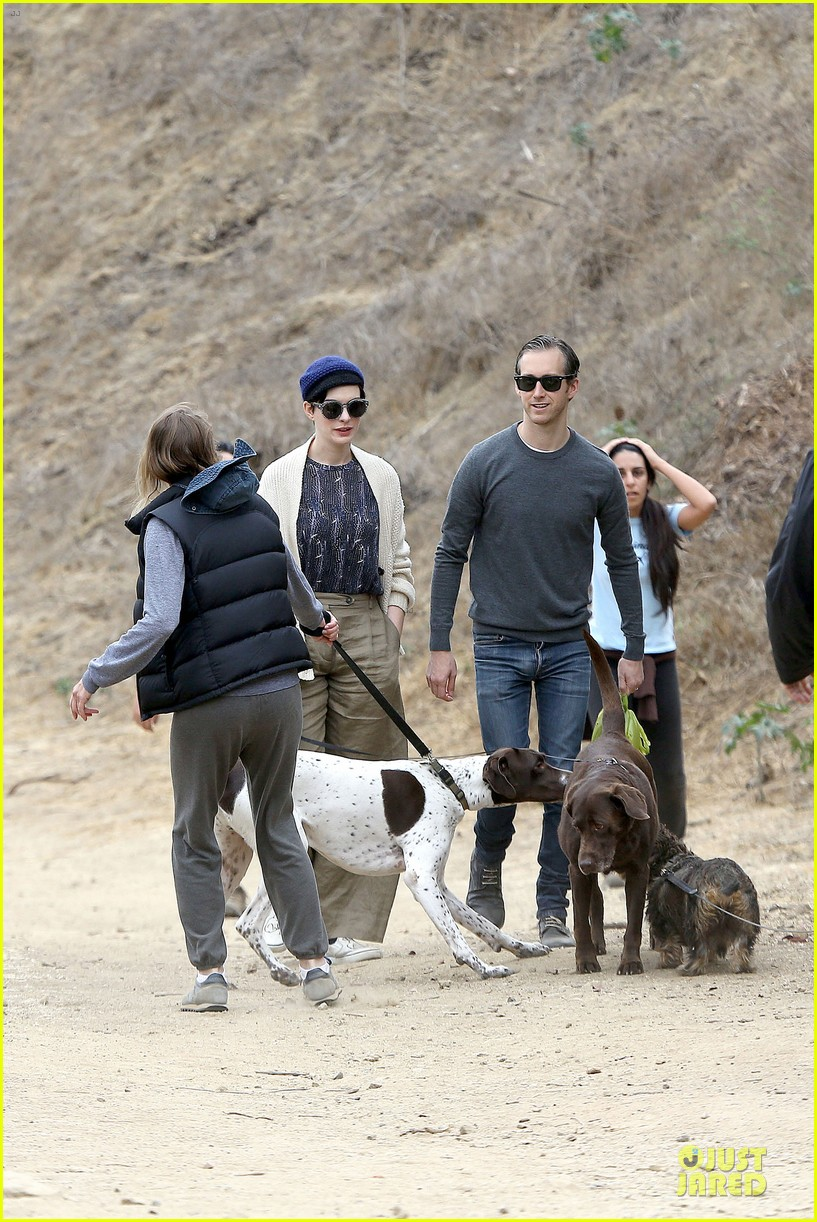 anne hathaway adam shulman hold hands for intimate walk 152994283
