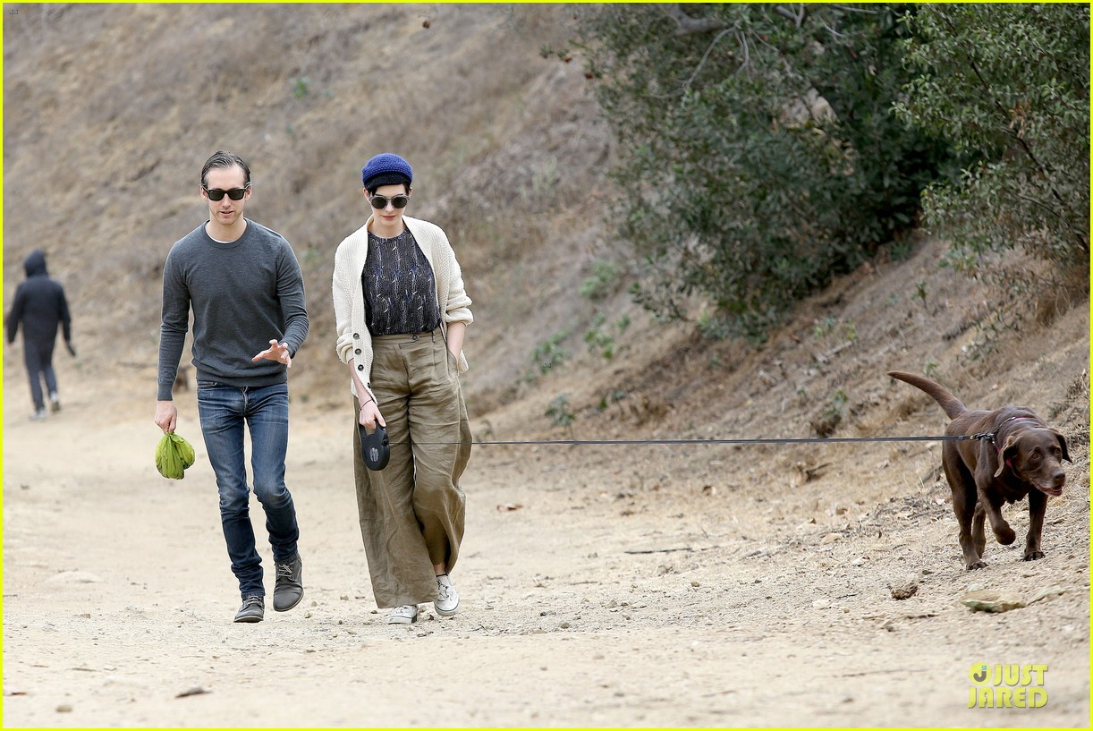 anne hathaway adam shulman hold hands for intimate walk 172994285