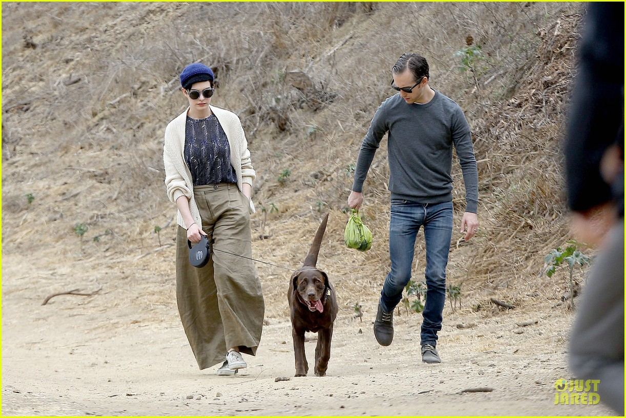 anne hathaway adam shulman hold hands for intimate walk 222994290