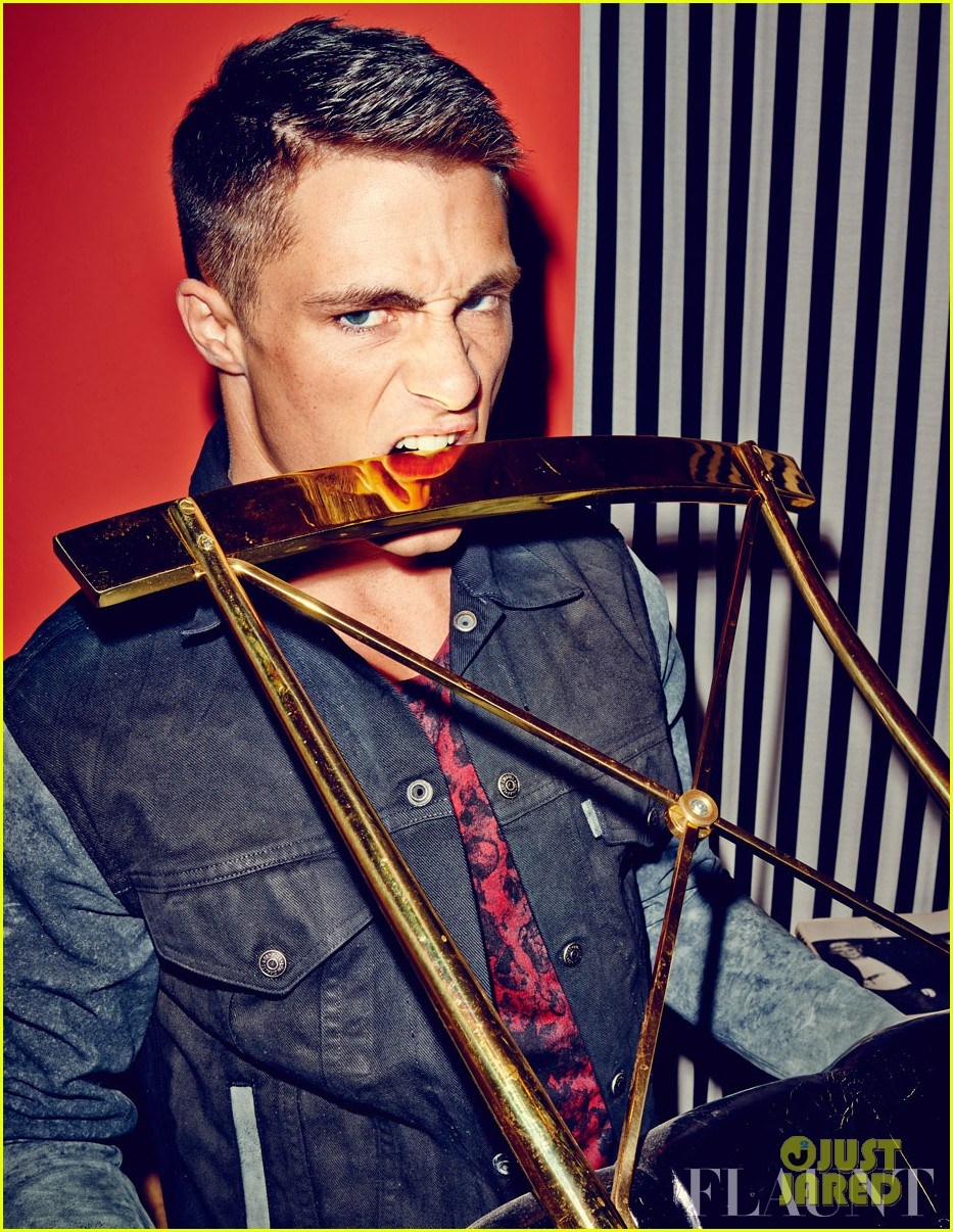 colton haynes flexes his muscles for flaunt feature 022991816
