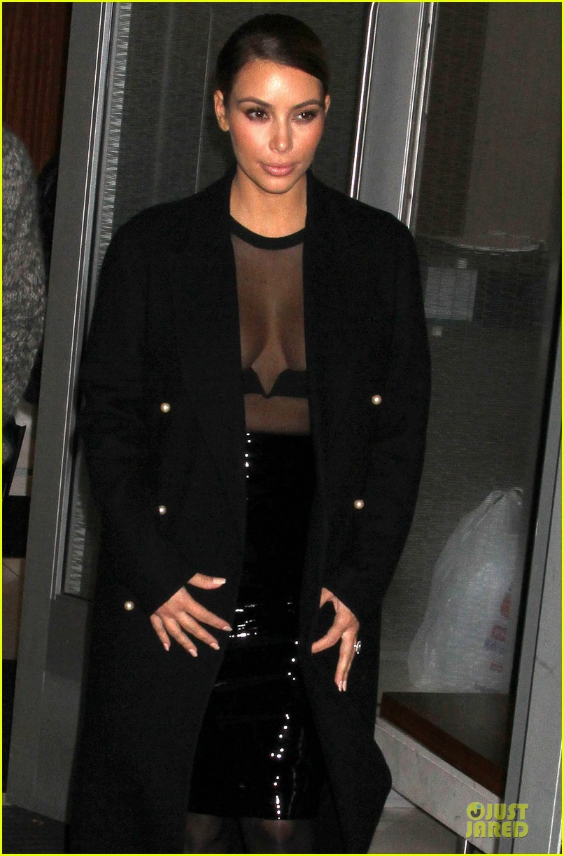 kim kardashian sheer cleavage for kanye west concert 10