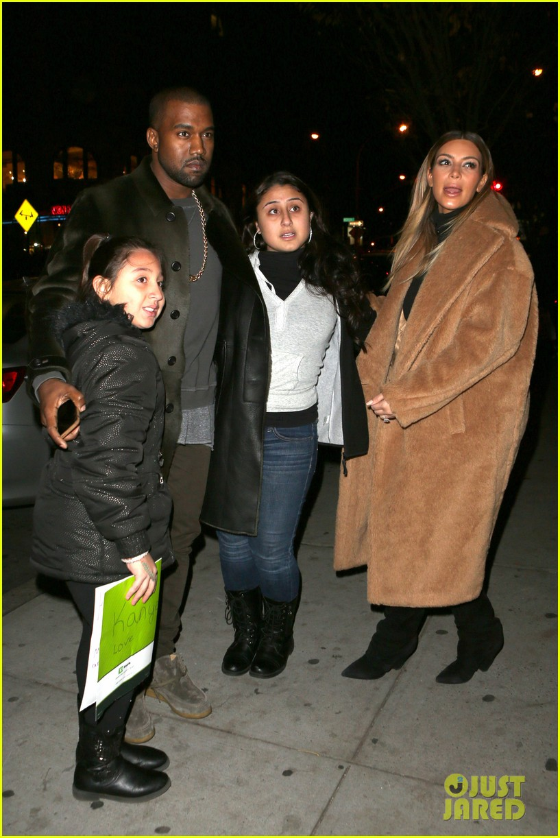 kim kardashian kanye west smile big for lucky fans 13