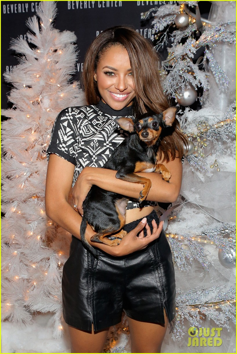 kat graham pet pup izzy beverly center pet portrait kick off 10