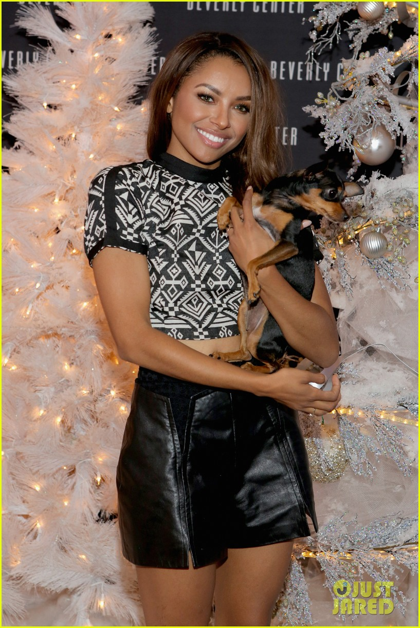 kat graham pet pup izzy beverly center pet portrait kick off 152993322