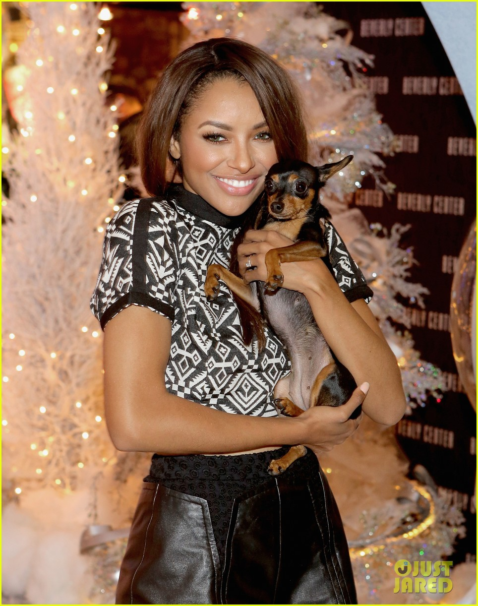 kat graham pet pup izzy beverly center pet portrait kick off 19