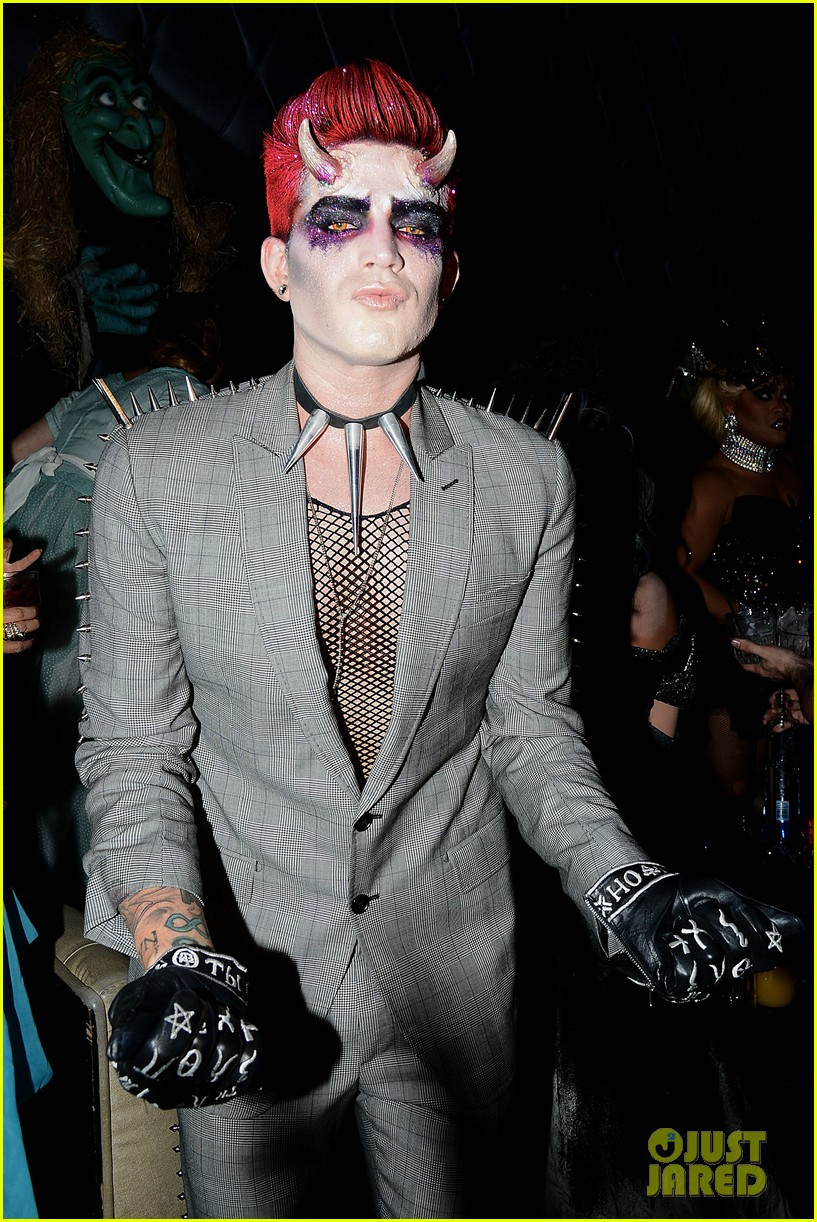adam lambert hosts halloween party goes as devil 04