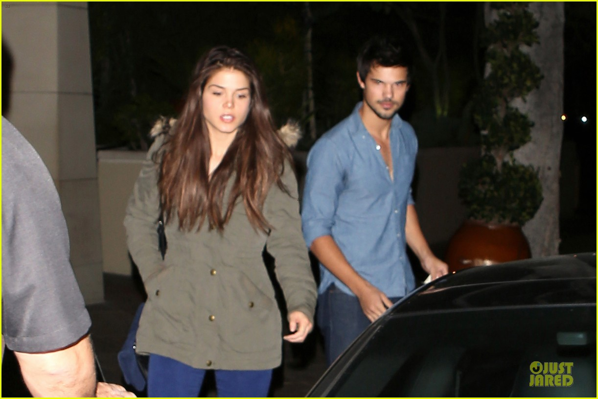 taylor lautner marie avgeropoulos lermitage dinner date 022998293