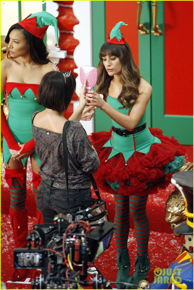 lea michele naya rivera santas sexy little helpers 412987855