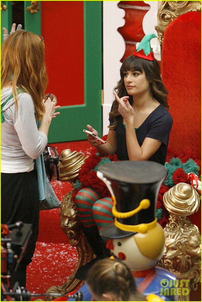 lea michele naya rivera santas sexy little helpers 422987856