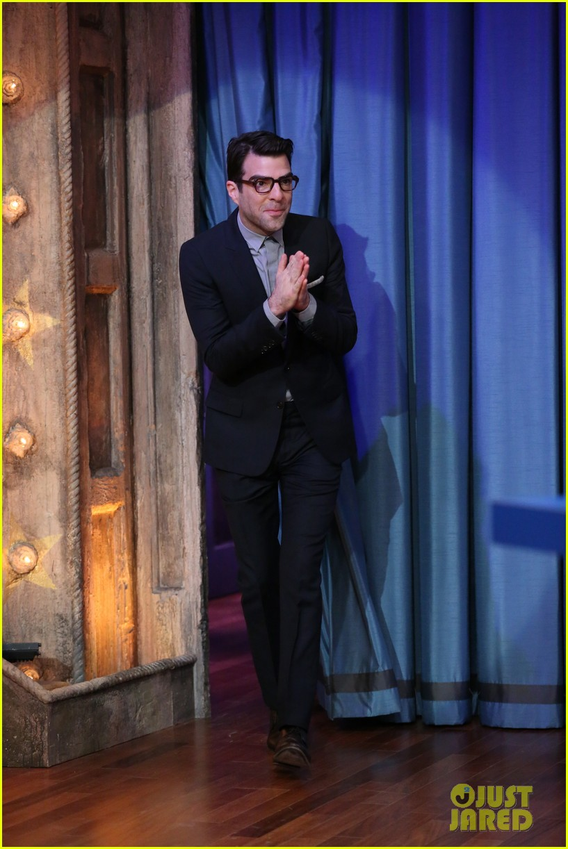 zachary quinto lucy liu play catchphrase on jimmy fallon 01