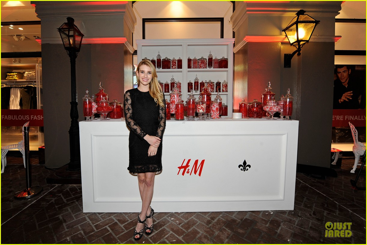 blake lively emma roberts hm new orleans store opening 11
