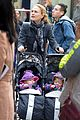 anna paquin pushes adorable twins in double stroller 03
