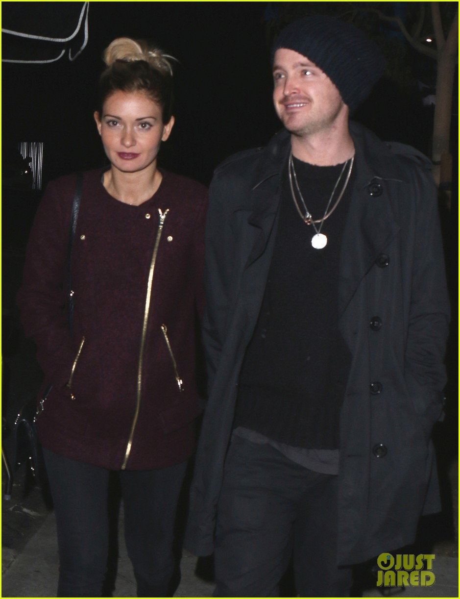 aaron paul lauren parsekian enjoy date night in hollywood 02