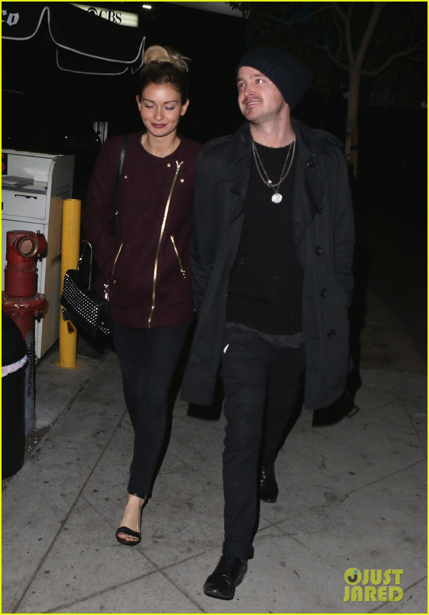 aaron paul lauren parsekian enjoy date night in hollywood 04