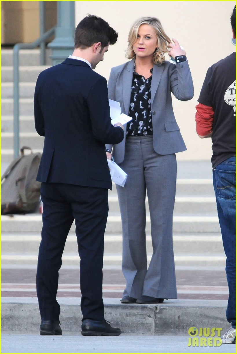 amy poehler adam scott film parks recreation together 012988430