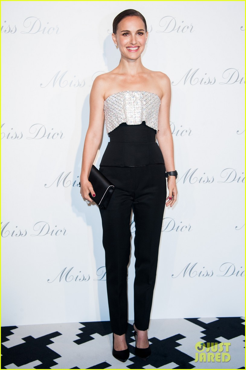 natalie portman miss dior exhibition with benjamin millepied 05